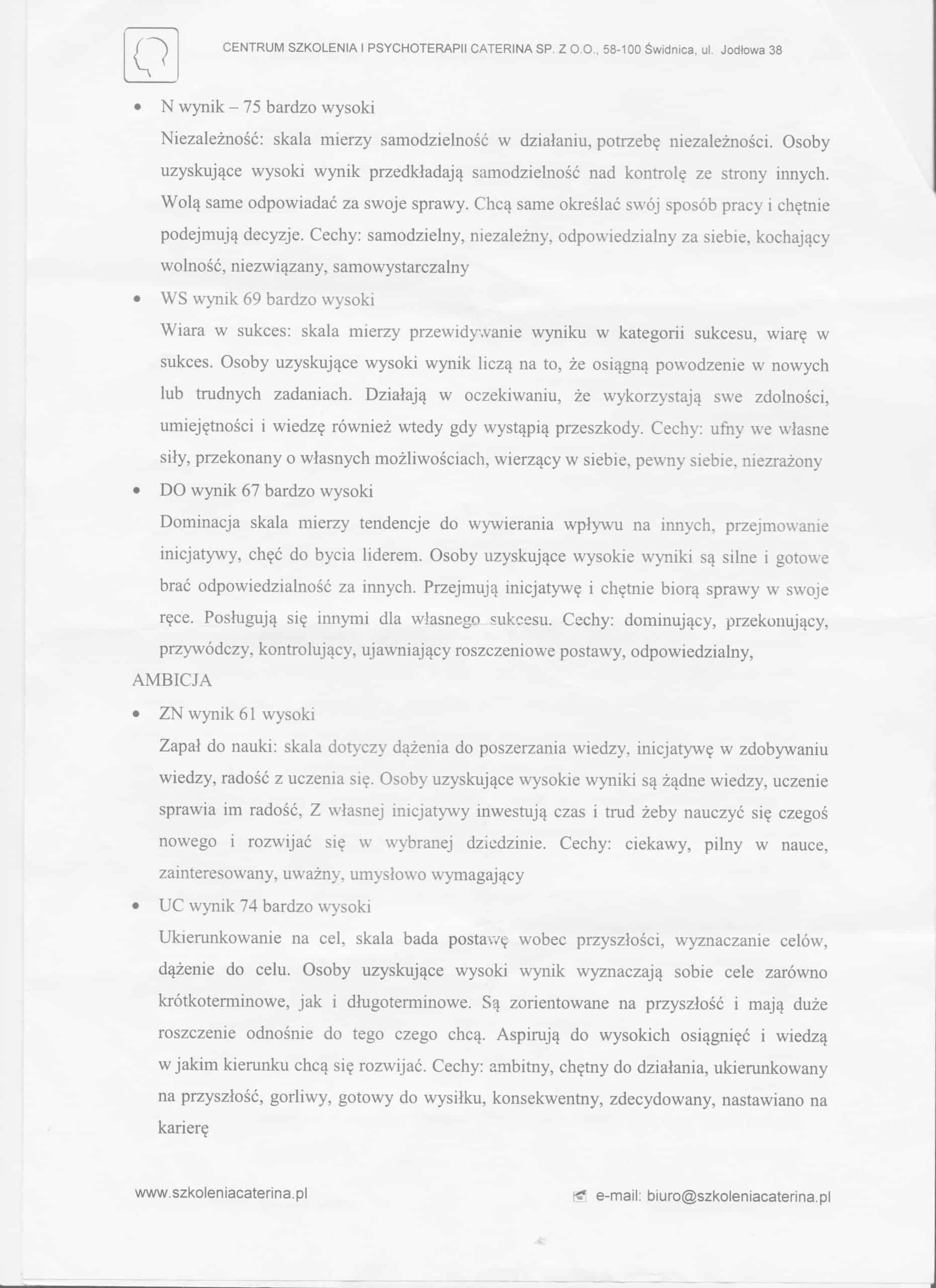 Strona 2 Badania Mojej Osobowości